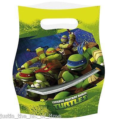 Teenage Mutant Ninja Turtles Boys Party Supplies LOOT BAGS Job Lot Gift Bags