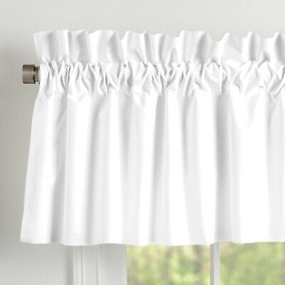 Amish Farm House White 100% Cotton Muslin Valance Lined Curtains
