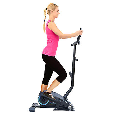 Elliptical Cross Trainer w/ LCD Display Adjustable Height Magnetic Resistance