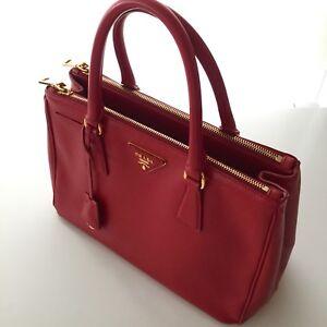 Prada Fire Engine Red Galleria Bag