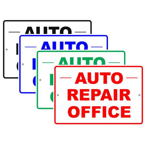 Auto Repair Office Car Workshop Mechanic Retail Notice Aluminum Metal Sign