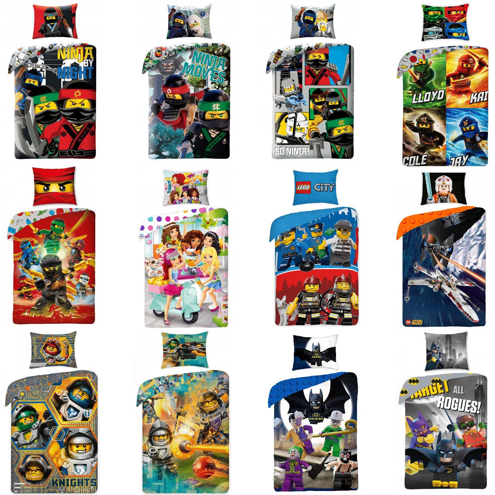 LEGO NINJAGO CITY SUPER HEROES NEXO KNIGHTS Friends Star Wars Kinderbettwäsche