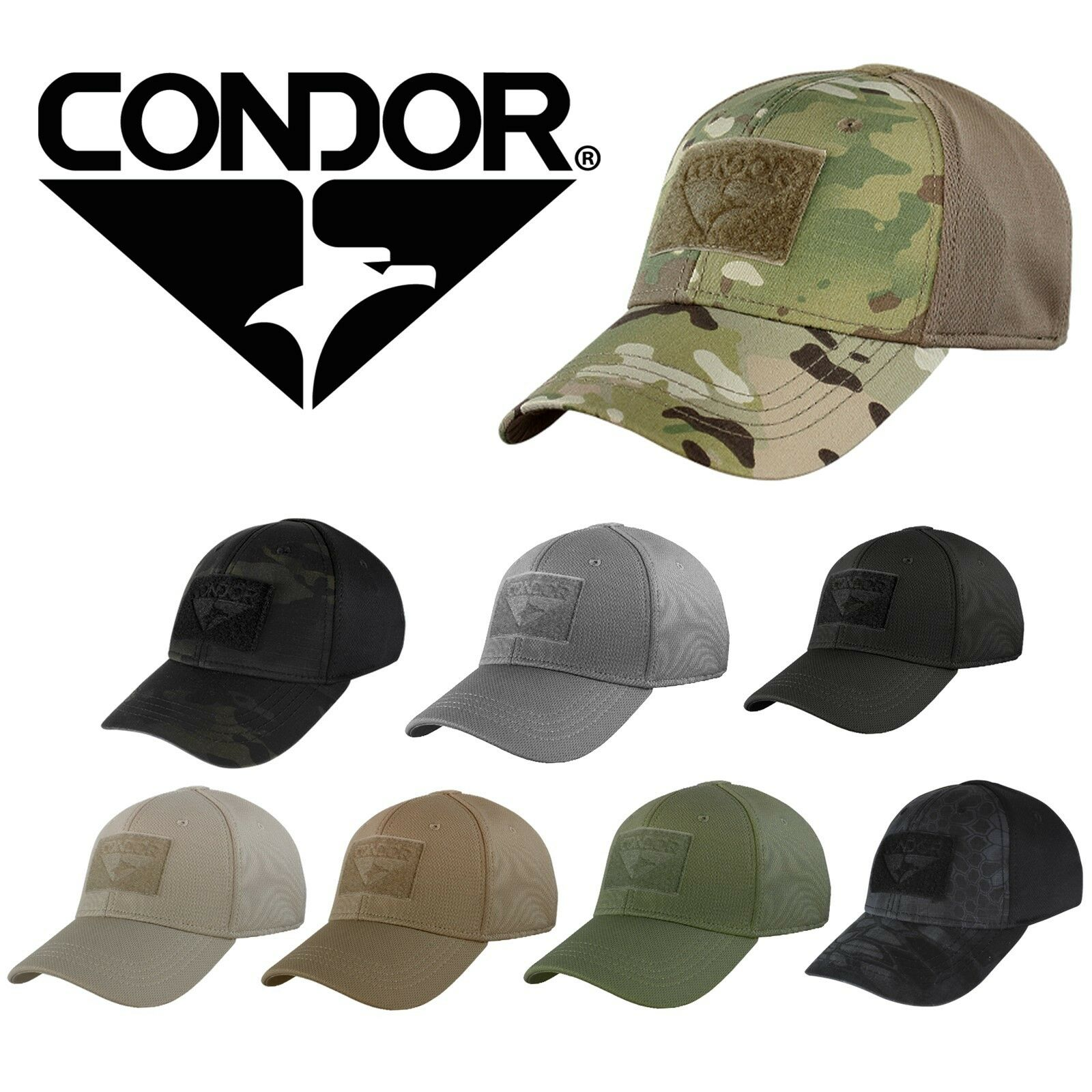 8ca93238ab5b0 Condor 161080 Tactical Flex Fit Military Combat Fitted Hat Baseball Cap Hat