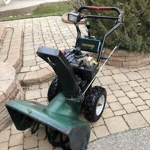 Craftsman 9.5 HP/27 works great starts in one pull