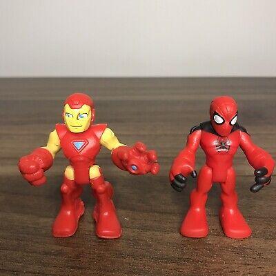 Imaginext Playskool Marvel Figure Bundle - Spiderman & Ironman