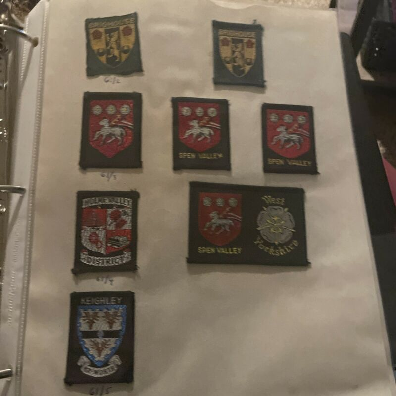 British Scouts UK, Ext 61/2-10, Lot Of 17 Patches, Brighouse, Spen Valley, Holme