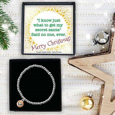 Secret Santa Gift For Under £10 Ladies Silver Bracelet Jewellery Christmas Idea ()
