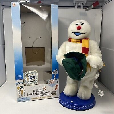 """SEE VIDEO! Gemmy Frosty The Snowman 18"""" Animated Dancing 100% Working"""