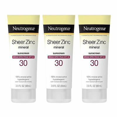 Neutrogena Sheer Zinc Oxide Dry-Touch Sunscreen Lotion with Broad Spectrum SPF