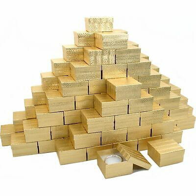 100 Bracelet Cotton Gift Boxes Jewelry Display Gold