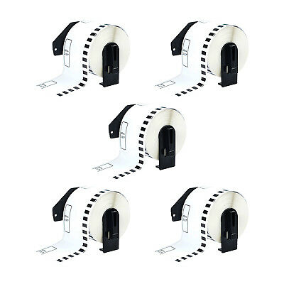 5 Roll Dk2205 100 Continuous White Labels Compatible For Brother Ql-700 62mm