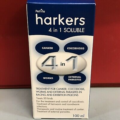 Harkers 4 in 1 Pigeon Internal External Parasites Coccidiois Canker Worms