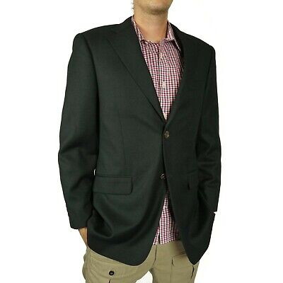 John Nordstrom Mens Blazer Jacket Size 40 R Dark Blue Loro Piana Wool Super 120