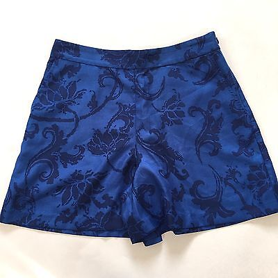 Banana Republic Blue Floral Satin Shorts Size 0 Petite