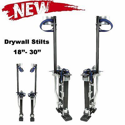 Drywall Stilts Painters Walking Finishing Tools - Adjustable 18 - 30 Black