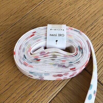 Nani Iro Melody Sketch Regato Pink Cotton Double  Gauze Bias Binding Tape 2.3m