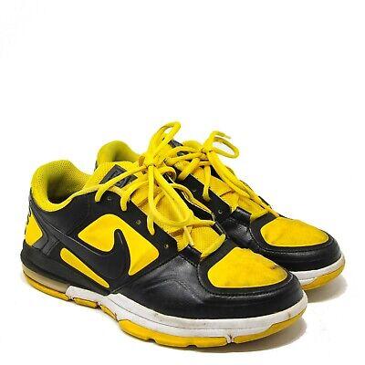 Nike Air Trainer 1.3 Low Training Shoe Black Yellow University 487945-701 sz 8.5