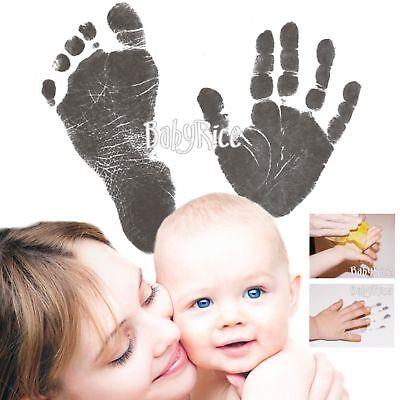 Neu Baby Drucke Set Einfach Handabdrücke Fußabdrücke Tintenlose Wischen Andenken