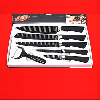 BIGSALE 6Pcs Everrich Kitchen Knife Set Chef Bread Carving Utility Paring Peeler