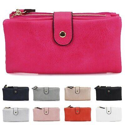 Women's Ladies Large Purse Bifold Double Zipped Compartments Wallet Purses