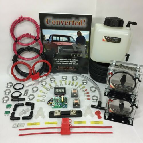 Dual 9 Plate HHO Dry Cell Kit W/ Electronics HydroCell Electrolysis