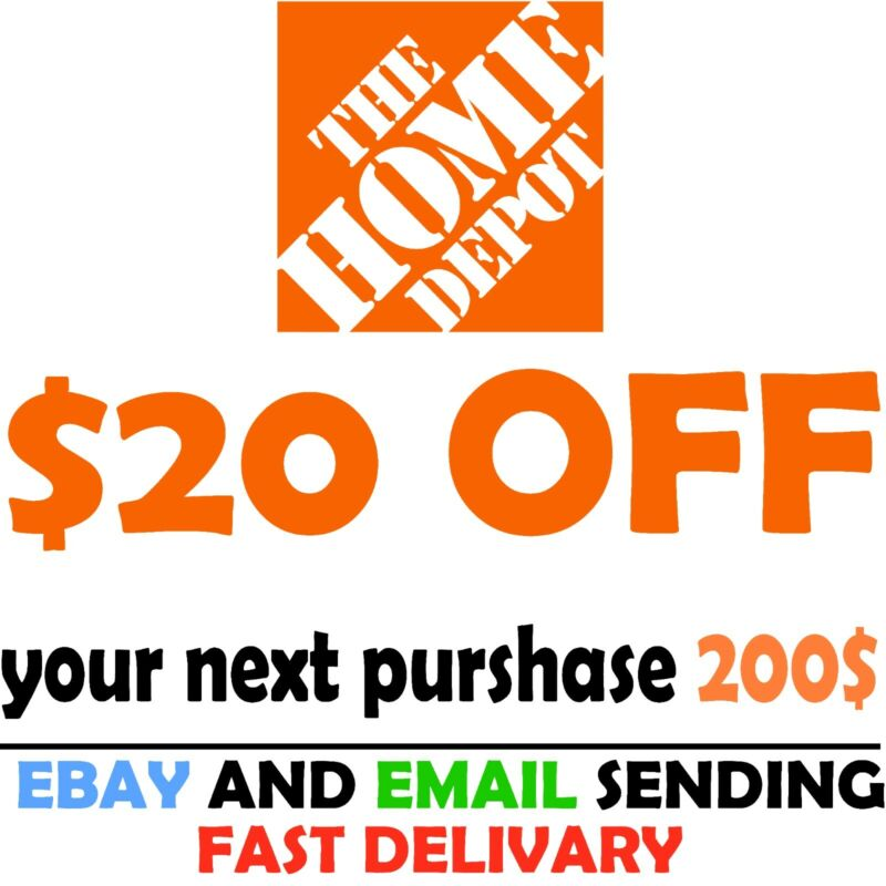 Home Depot Coupon $20 OFF $200 [Online-Use Only]  ~FAST~delivery