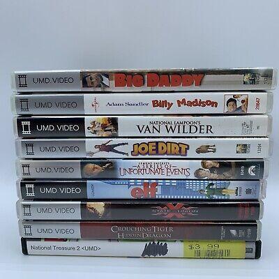 Lot of 9 PSP UMD Movies - Big Daddy, Billy Madison, Elf, Joe Dirt, XXX - Tested