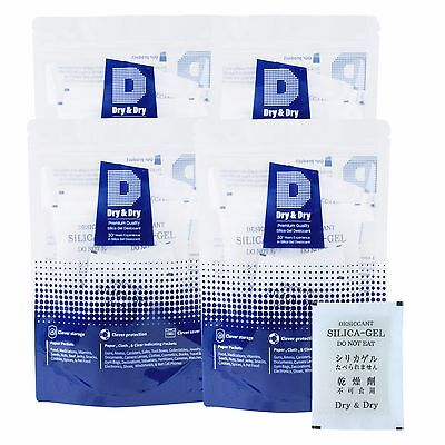 100 Packets Of 30 Gram Dry Dry Premium Silica Gel Desiccant - Reusable