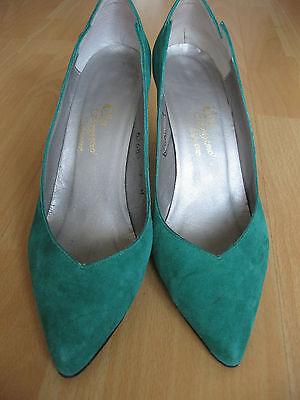 Vintage 70s Green Suede Shoes Rosina Ferragamo Size 7 - 70 S Shoes