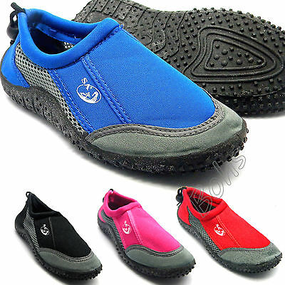 Water Aqua Wet Beach Surf Shoes Blue Black Pink Red Mens Womens Childrens