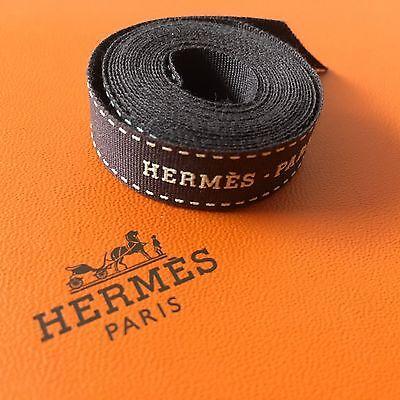 Brand New Hermes Classic Brown Logo Ribbon 0.5 x 50