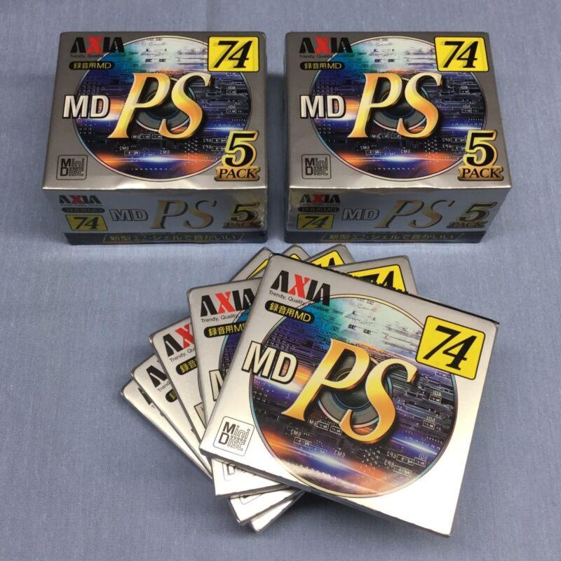 Fifteen (15) Axia PS 74min Blank Minidiscs