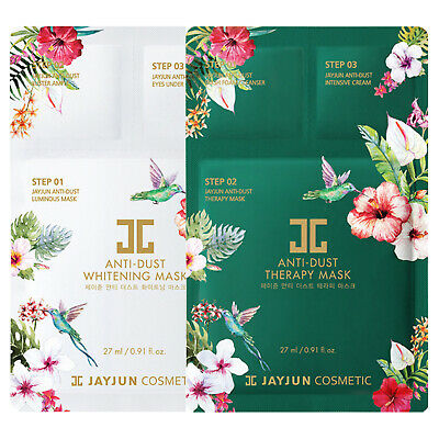 JAYJUN Facial Sheet Pack Face Skin Care 3 Step Anti Dust Whitening Therapy