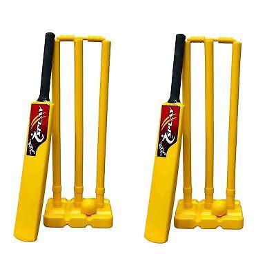 Cricket Kwik Set adult 2 Pack indoor plastic bails ball stumps kit complete case