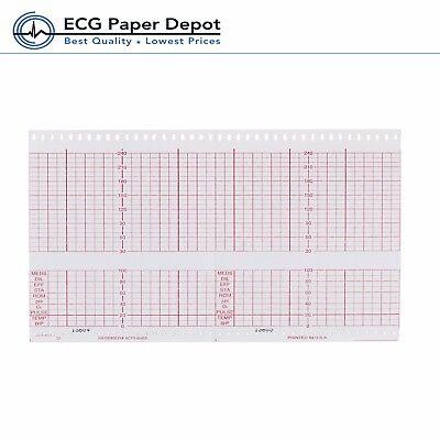Ecg Ekg Paper Hp Fetal Monitoring Thermal Record Print Chart 9270-0485 40 Pads