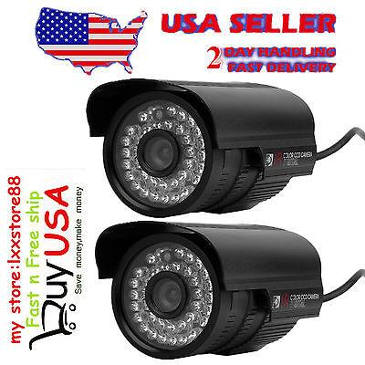 "2X 1200TVL 1/3"" Sony Cmos 2.8-12mm Varifocal IR Outdoor CCTV Bullet Security Cam"