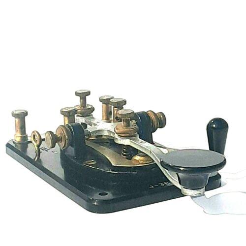 Vintage Lionel J-38 Straight Key Ham Radio Morse Code Bakelite Base
