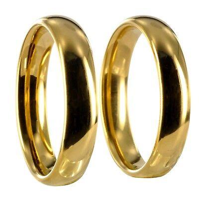 2 Wolfram Tungsten Ringe gold Verlobungsringe Eheringe Gravur inclusive 24159