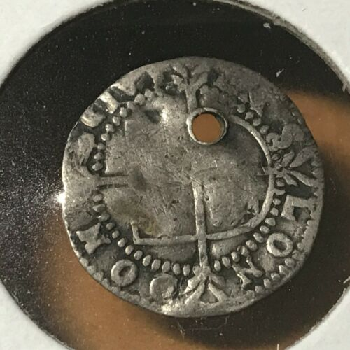 1558-1603 GREAT BRITAIN SILVER HAMMERED COIN QUEEN ELIZABETH