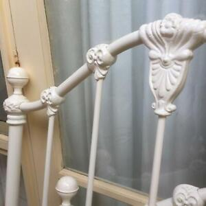 Cream colors iron bed king single