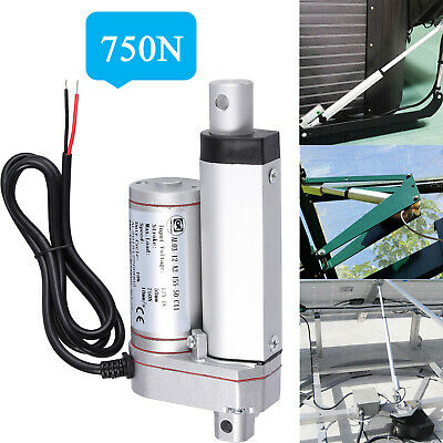 50mm2 Inch Stroke Linear Actuator 750n160lbs Pound Max Lift 12v Volt Dc Motor