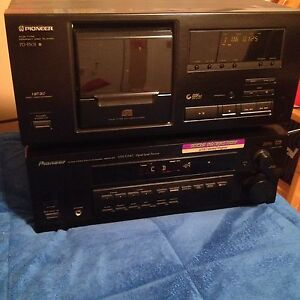 PIONEER receiver and 25 Disc CD Player