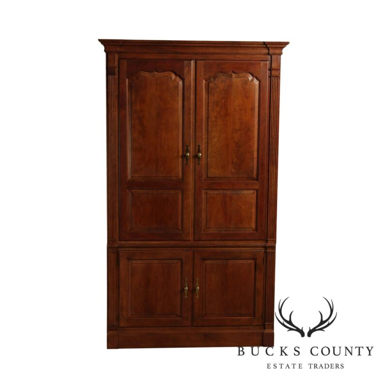 Stickley Large Cherry TV Armoire Cabinet