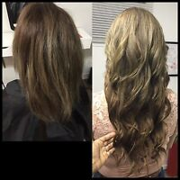 PROFESSIONNAl HAIR EXTENSION 250$ loop, fusion