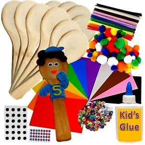 People Wooden Spoons Kit Class Pack Size 10 Craft Crafts Puppets to make