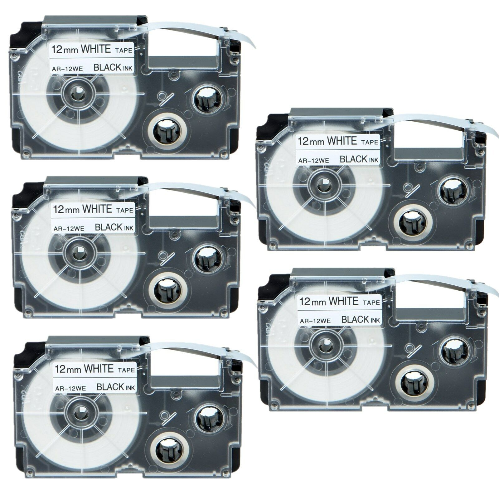 XR-9WE 9mm 8m Black on White Label Tape for EZ-Label Printer KL-1500 7200 7000KR