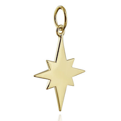 North Star Charm - 14K Gold Plated 925 Sterling Silver - Guide Christmas Stars