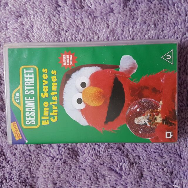 Sesame Street - Elmo Saves Christmas (VHS, 1997) | eBay