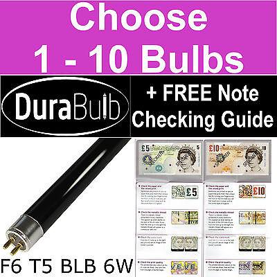 Durabulb F6 T5 Blb 6w Ultraviolet Money Checker Bulbs Uv Blacklight Light Tubes