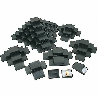 100 Black Stripe Cotton Filled Jewelry Gift Box 2 18